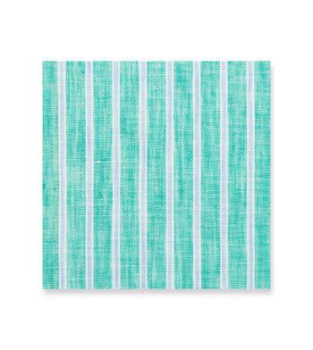 Turquoise Linen Aqua Light Blue Striped by Hemrajani Product Image