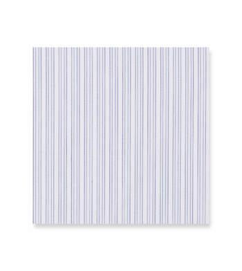 Indigo and blue mini stripes on white Superaluxe Premio Blue White by Alumo Product Image