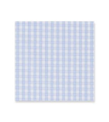 Cerulean Blue checks on white Supraluxe Premio White by Alumo Product Image