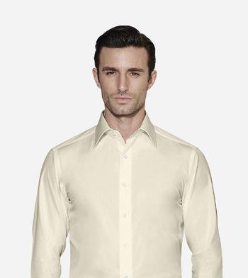 shirts cotton polyester blend easy care lemon chiffon white yellow solids