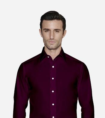 shirts cotton polyester blend easy care sugar plum violet purple solids