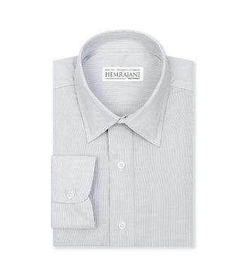 custom tailored shirts cotton polyester coastal villa grey stripe