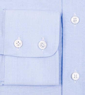 custom tailored shirts cotton polyester summer breeze blue