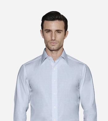 custom tailored shirts cotton polyester summer breeze blue_1