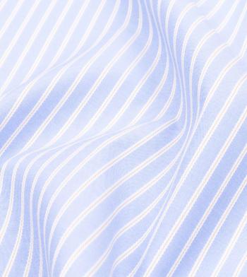 custom tailored shirts cotton polyester deep sky blue moss stripe