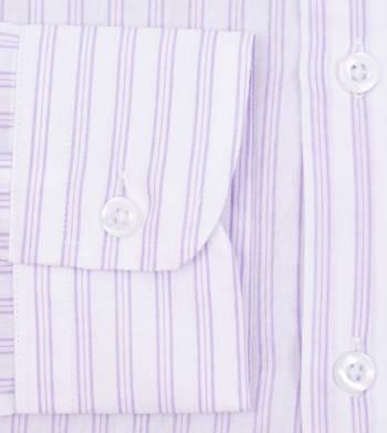 custom tailored shirts cotton polyester lavender fields white stripe