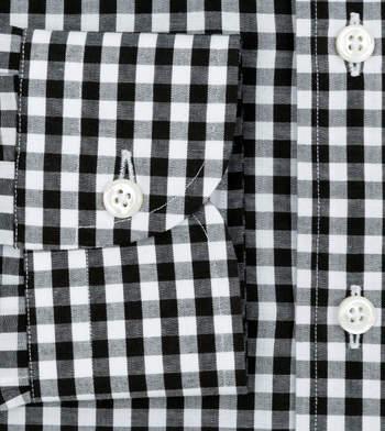 custom tailored shirts cotton polyester night black gingham