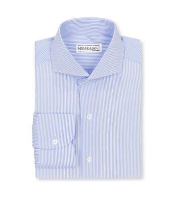 shirts cotton periwinkle pencil light blue white striped