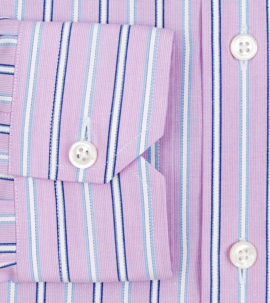 Deep Lavender And Steel Grey Blue Lavender Blue Striped by Hemrajani Product Image