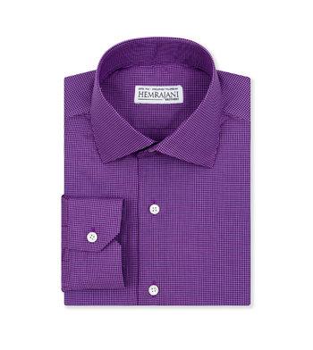 custom tailored shirts deep violet check