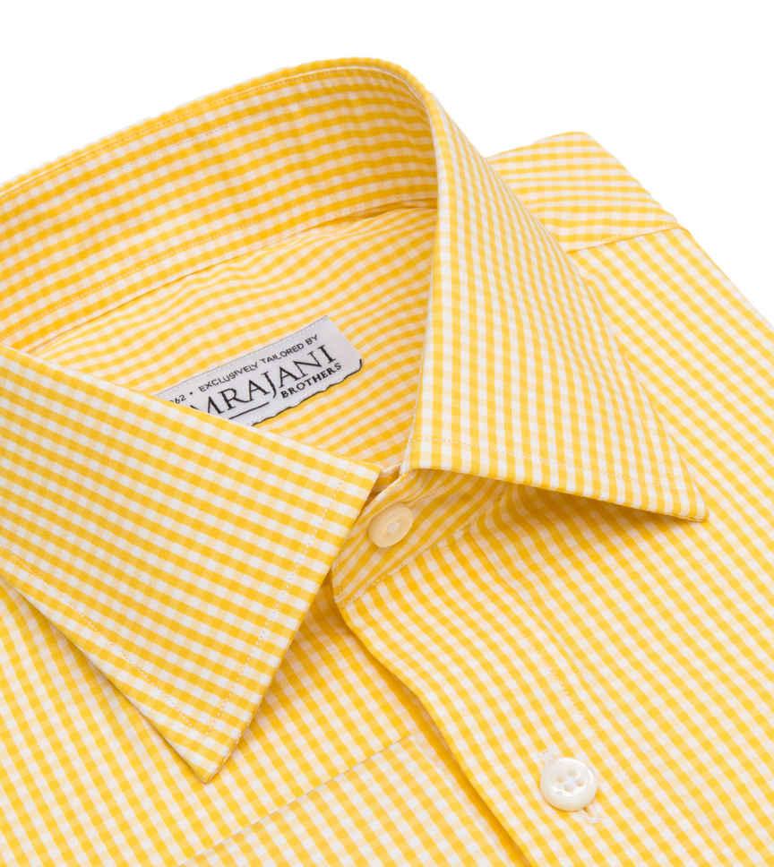Butterscotch Gingham Yellow White Check by Hemrajani Product Image