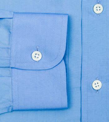 custom tailored shirts office blue