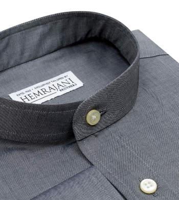shirts cotton charcoal grey grey solids