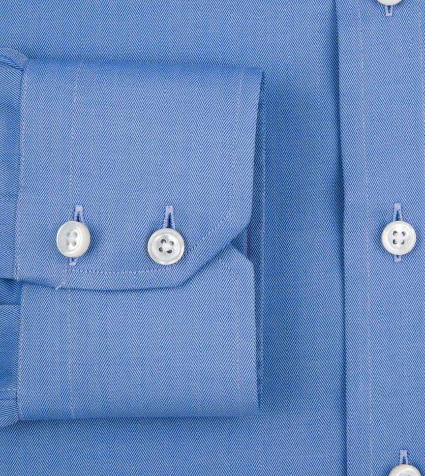 Atlantic Blue Herringbone Blue Solids by Hemrajani Product Image