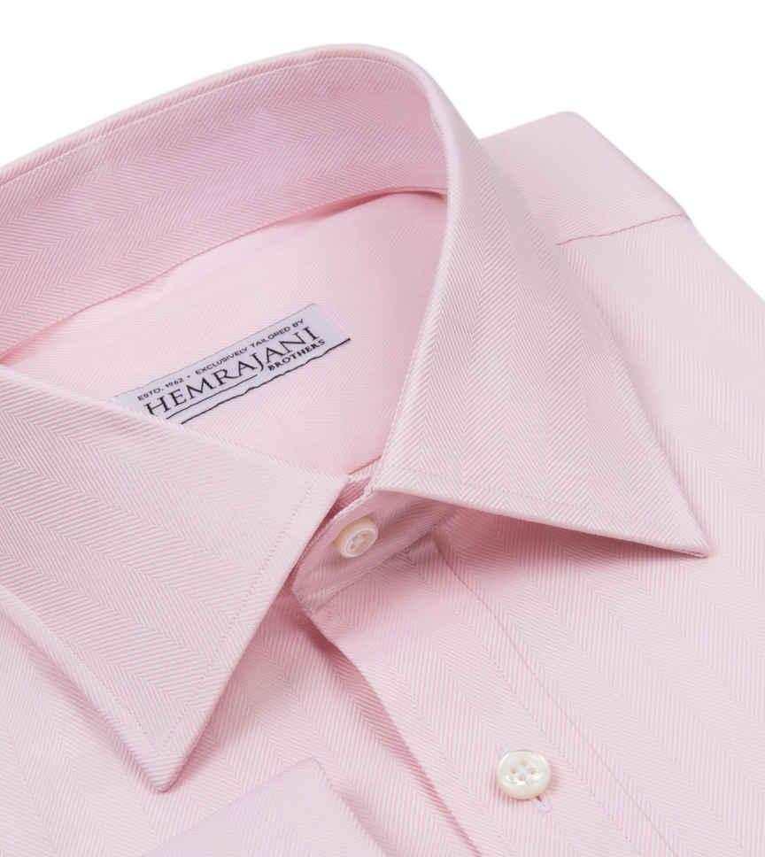 French Hair Herringbone Pink Semi Solids by Hemrajani Product Image