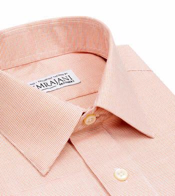 shirts cotton marmalade orange nailhead orange semi solids