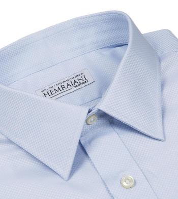shirts cotton arctic dobby light blue semi solids