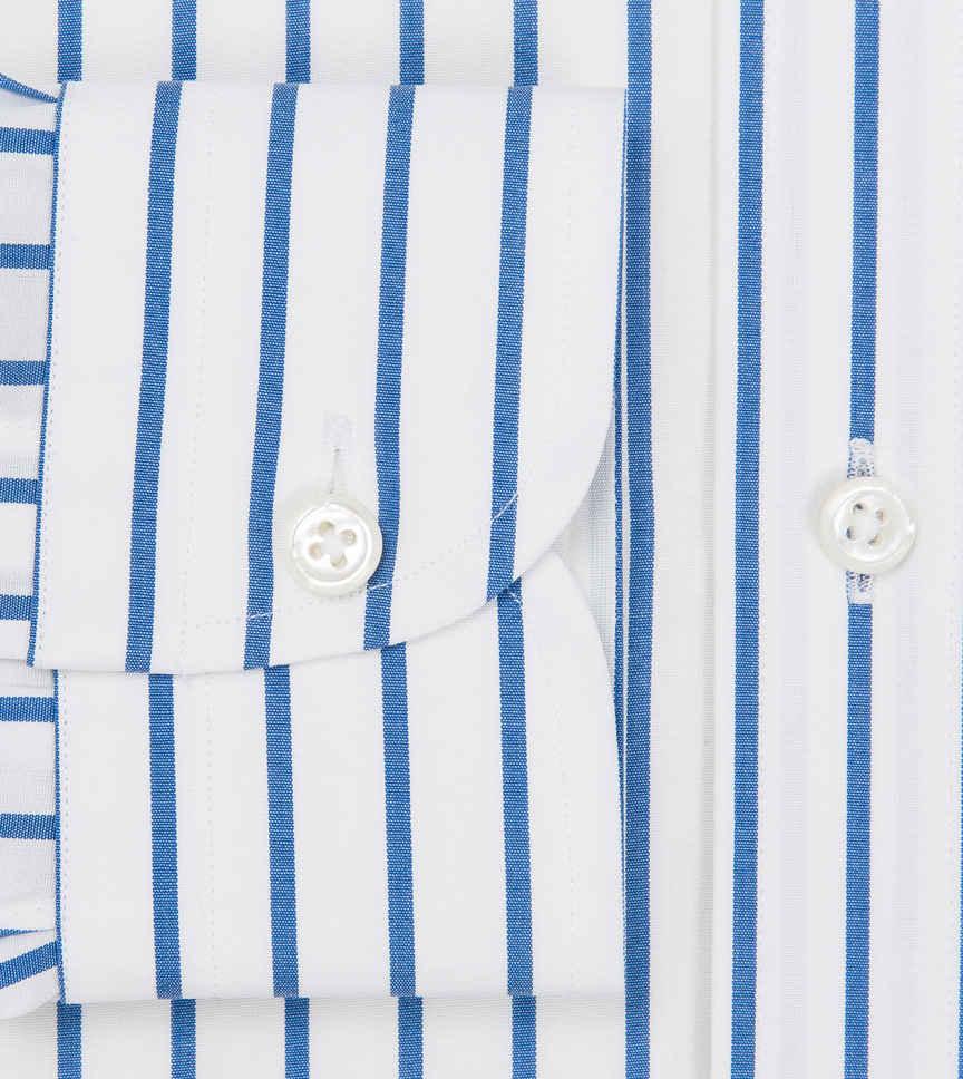 Cobalt Poplin Blue White Striped by Hemrajani Product Image