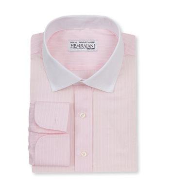 shirts cotton blush pink white striped