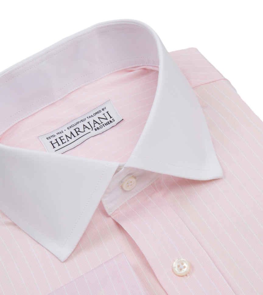 Blush Pink White Striped by Hemrajani Product Image