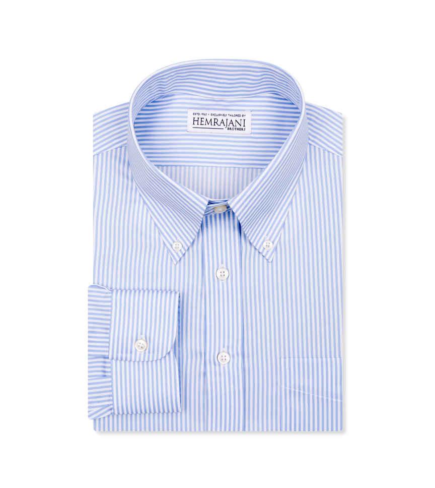 The Jonathan Blue White Stripe Twill by Hemrajani Product Image