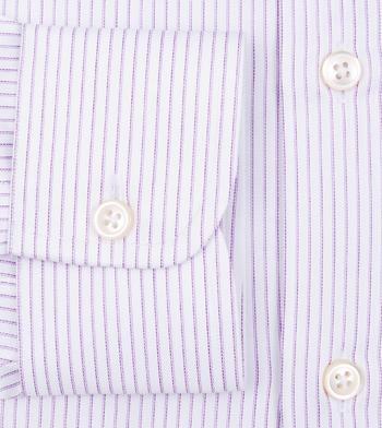shirts cotton double plum lavender striped