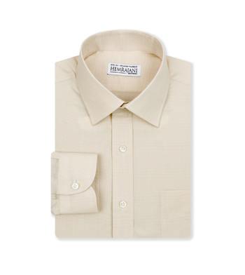 shirts cotton soft sand glen poplin tan check