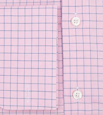 shirts cotton light pink and azure tattersall pink navy check