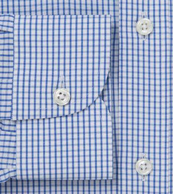 shirts cotton indigo tattersall blue white check
