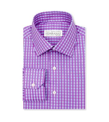 custom tailored shirts exotic purple check