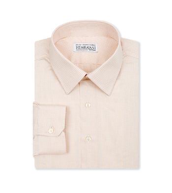 shirts cotton soft clay tan check