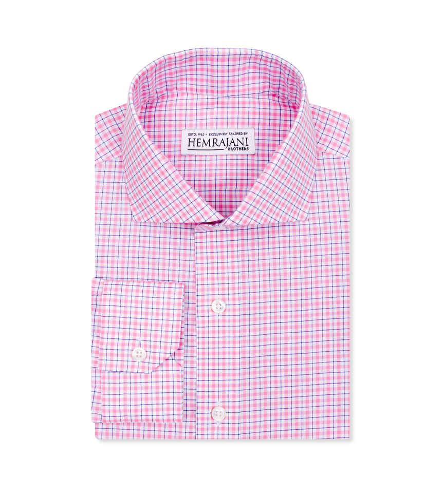Summer Blush and True Navy Pink Navy Check by Hemrajani Product Image