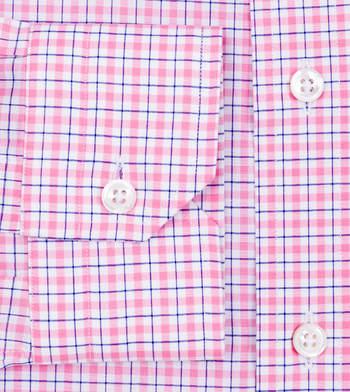 shirts cotton summer blush and true navy pink navy check