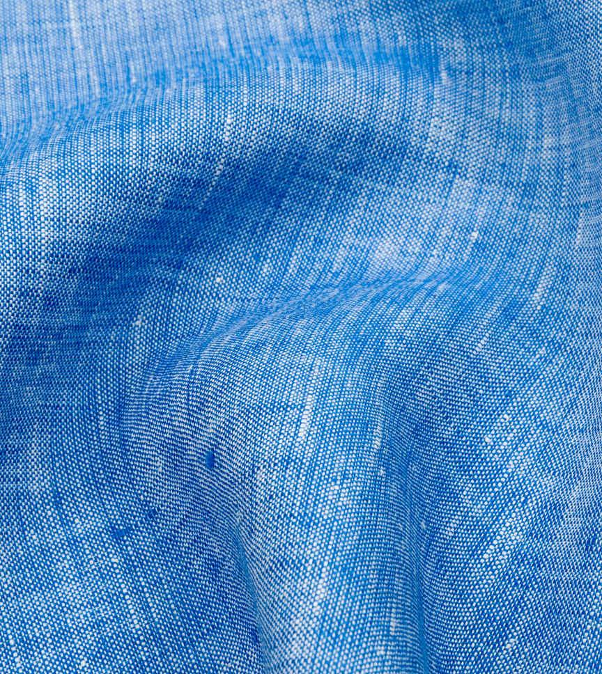 Faded Sky Linen Blue Semi Solids by Hemrajani Product Image