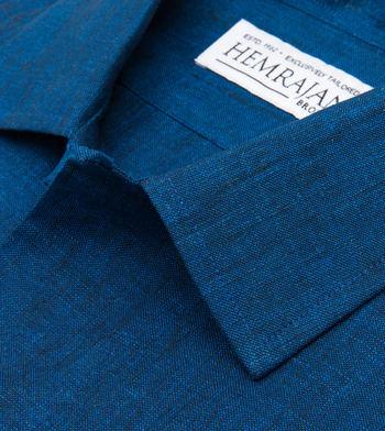 shirts linen and blends deep ocean linen navy solids