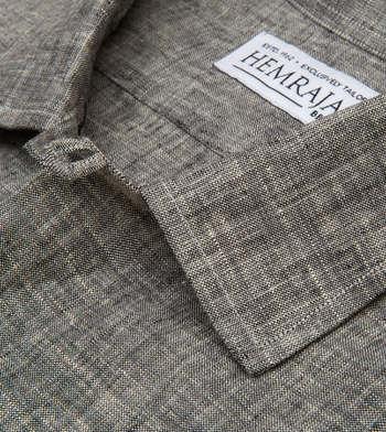 shirts linen and blends carob linen grey solids