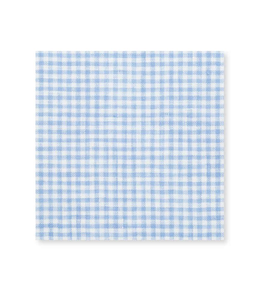 Light Blue Gingham Linen Light Blue Check by Hemrajani Product Image
