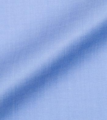 custom tailored shirts lapis solid twill