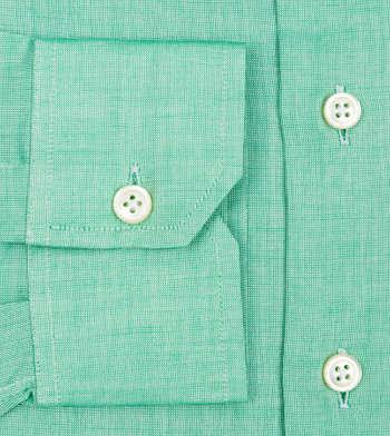shirts cotton spring green nailhead green solids