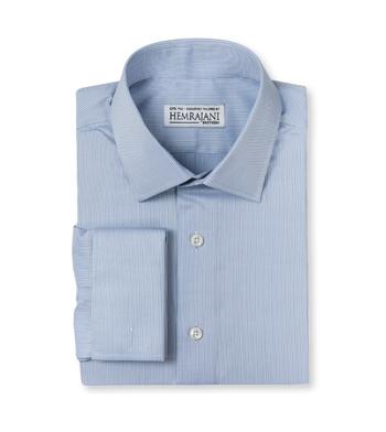 shirts cotton tonal blue pinpoint blue light blue striped