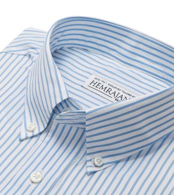 shirts cotton skyline light blue white striped