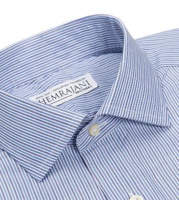 shirts cotton cerulean denim light blue navy striped