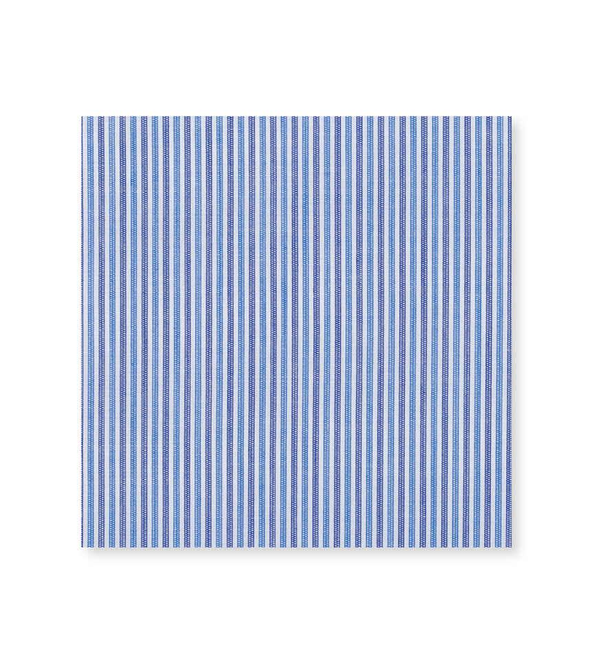 Cerulean Denim Light Blue Navy Striped by Hemrajani Premium Collection Product Image