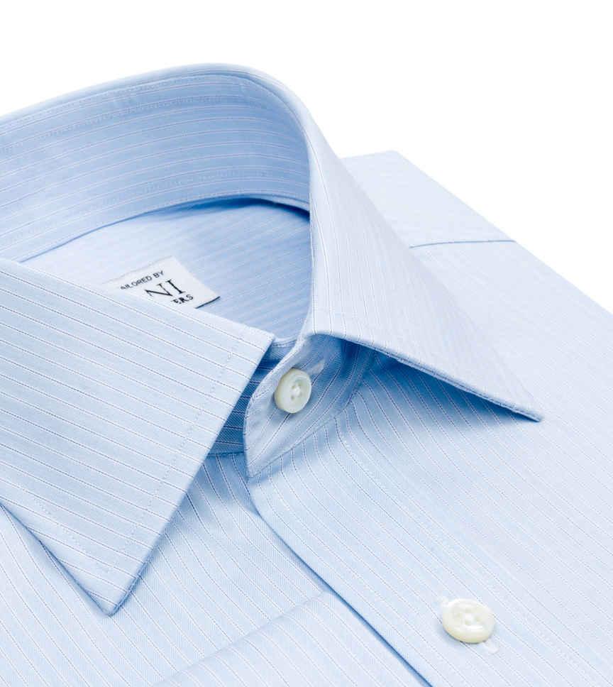 Sky Blue Light Blue Striped by Hemrajani Premium Collection Product Image