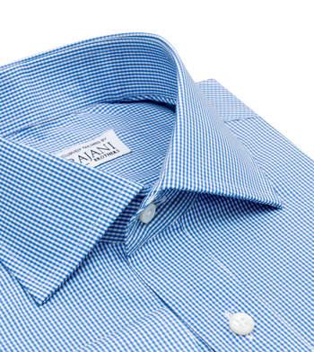 shirts cotton oz sky blue micro blue check