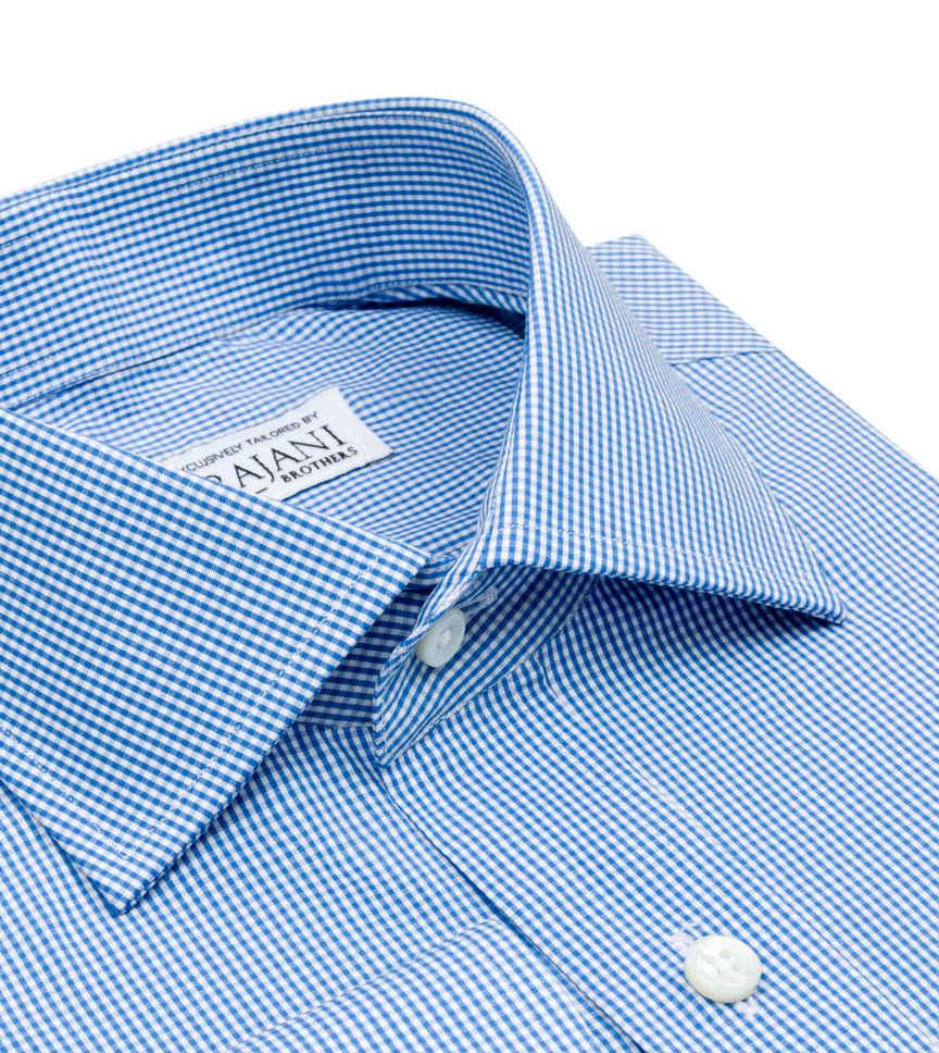 Oz Sky Blue Micro Blue Check by Hemrajani Premium Collection Product Image