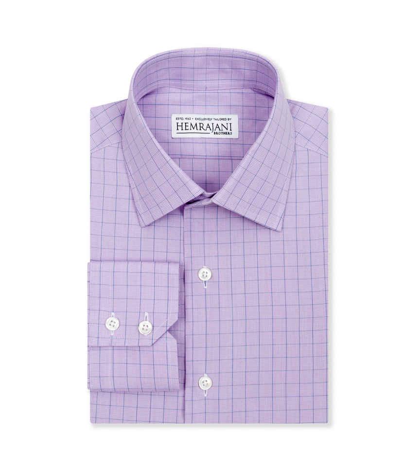 Purple Phantom and Navy Purple Lavender Check by Hemrajani Premium Collection Product Image