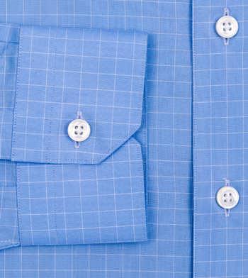 shirts cotton carolina blue and white blue check