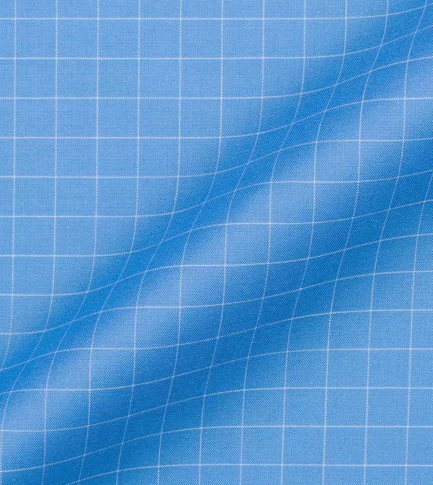 Carolina Blue and White Blue Check by Hemrajani Premium Collection Product Image