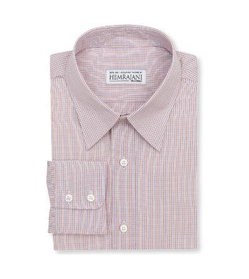 shirts cotton cobalt tiger micro tattersall orange blue check